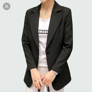 ZARA black tailored fitted classic blazer